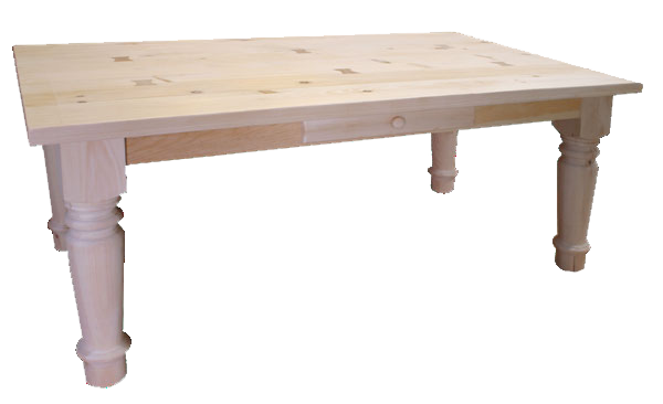 Nith River Rustic Heavy Top Harvest Table