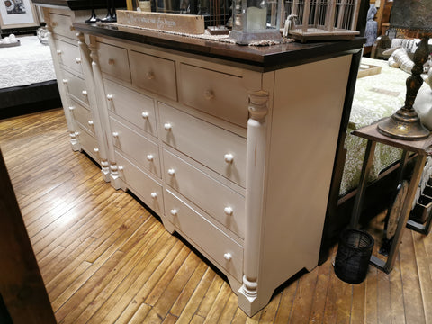 Bevel Top Pillar 9 Drawer Dresser