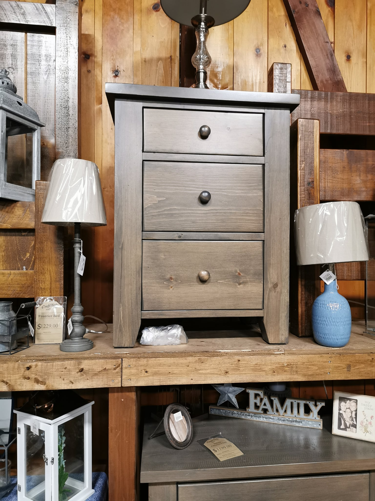 Dakota 3 Drawer Nightstand