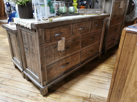 Timber 7 Drawer Dresser