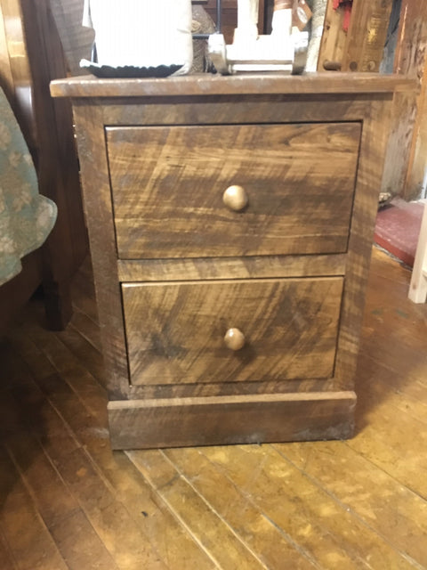 Barnboard 2 Drawer Nightstand in Rustic Wormy Maple