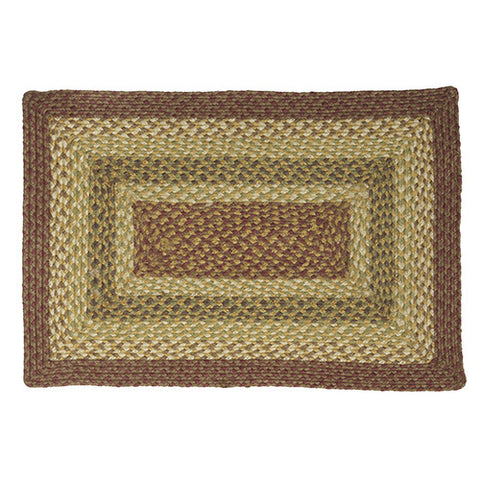 "Braided Jute Rectangle Rug 20"" x 30"""