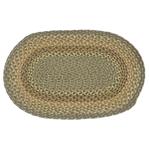 "Braided Jute Oval Rug 60"" x  96"""