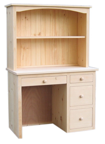 Rustic Kid's Desk with Hutch