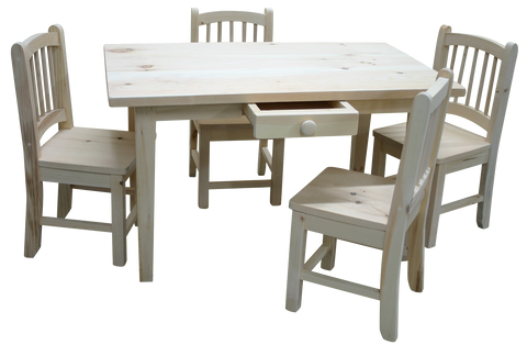 Rustic Kids Table with Chairs