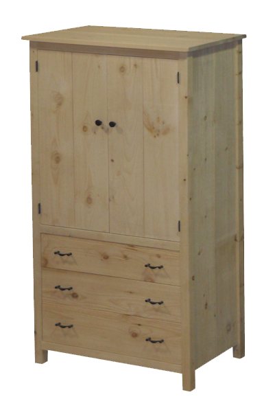 Lakeshore 3 Drawer Wardrobe