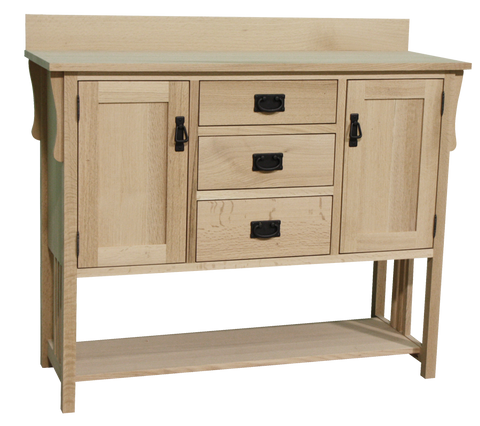 Mission 2 Door 3 Drawer Sideboard with Shelf