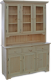 MFF-837 Plain Door Buffet with Hutch