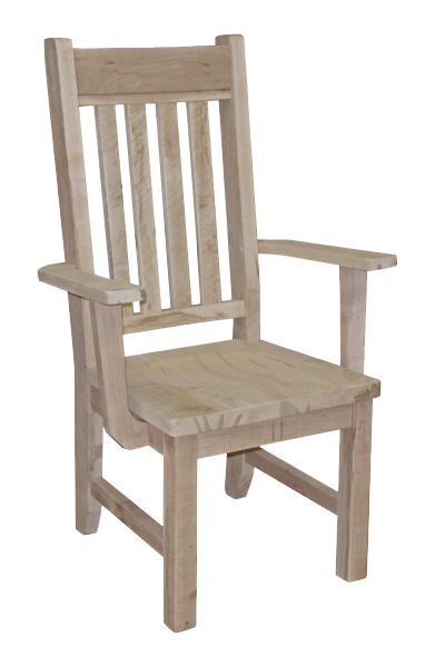 Millsawn Slat Back Arm Chair