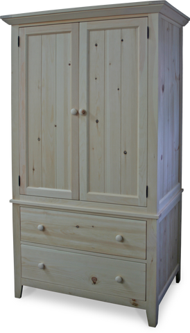 Muskoka 2 Drawer 2 Door Armoire