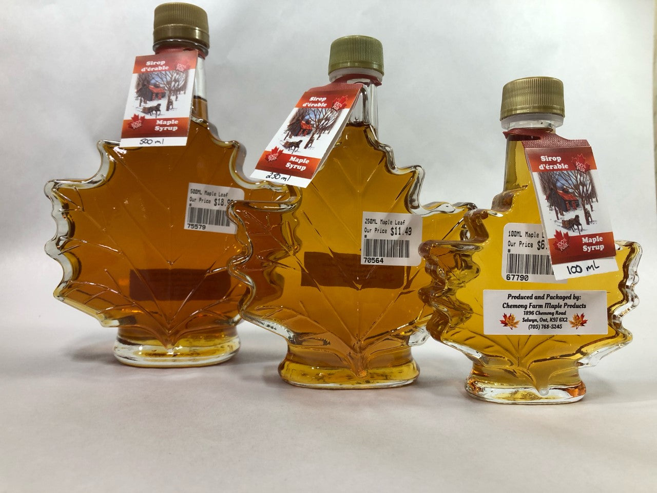 Assorted Maple Syrup - Leaf