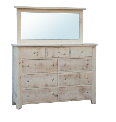 Dakota Rough Cut 9 Drawer Dresser
