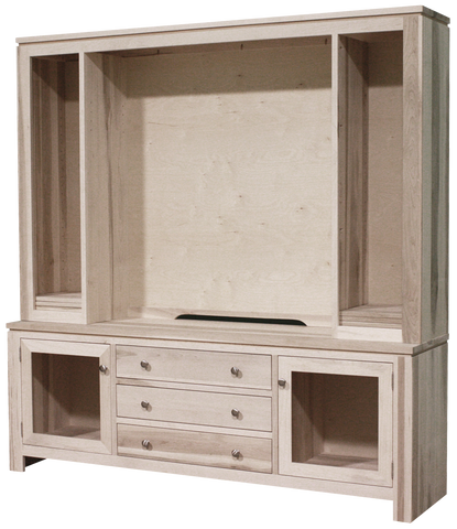 "Newport 75"" HDTV Cabinet with Hutch"
