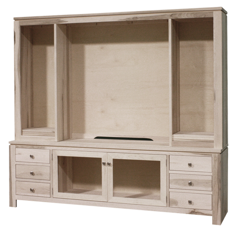 "Newport 85"" HDTV Cabinet with Hutch"
