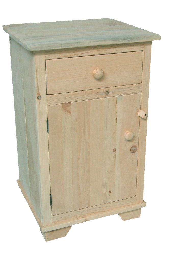 Nith River Rustic 1 Door 1 Drawer Nightstand