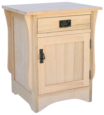 Mission 1 Drawer 1 Door Nightstand