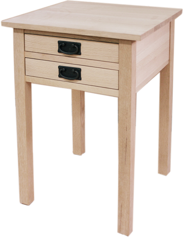 Mission 2 Drawer End Table