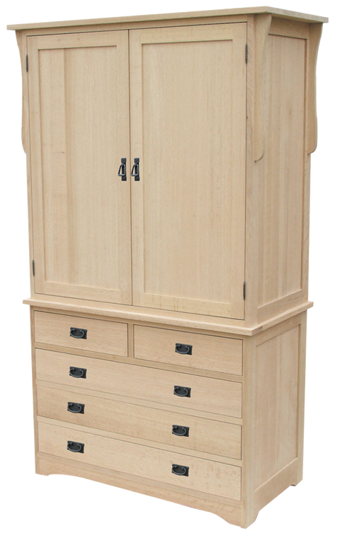 Mission 2 Piece Armoire