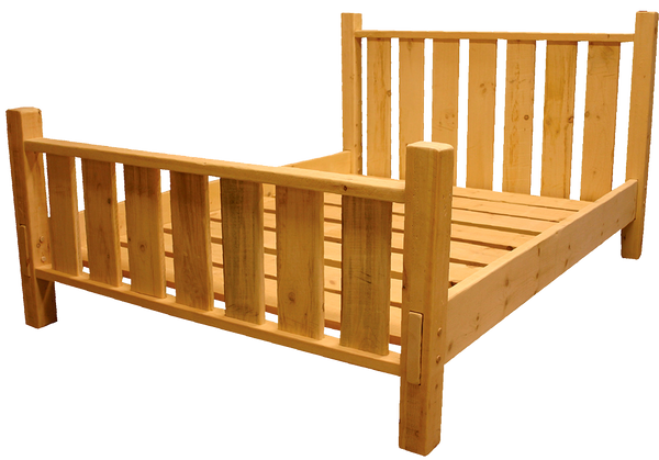 Rustic Picket Bed