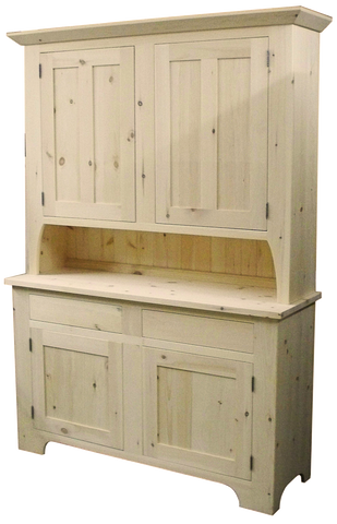 Rustic Buffet with Hutch 2 Drawer 4 Door