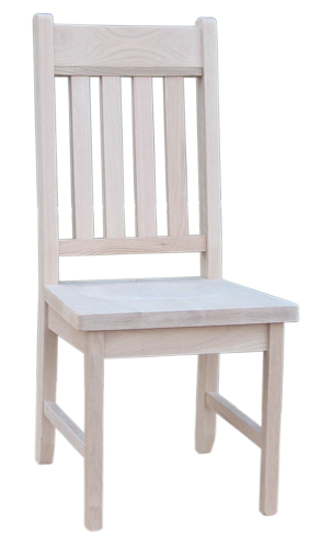 Dakota Rough Sawn Slat Back Side Chair