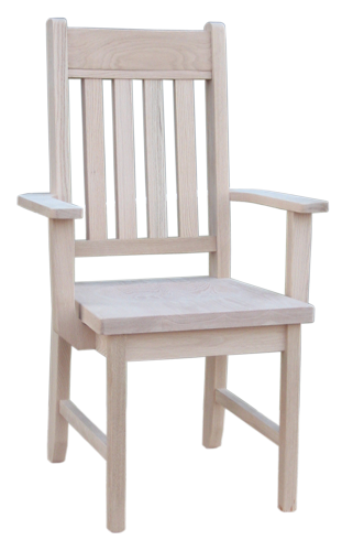 Rough Sawn Slat Back Arm Chair