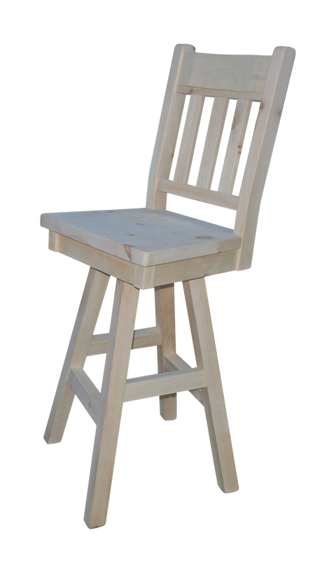 Dakota Rough Sawn Slat Back Bar Chair