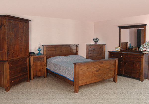 Dakota Rough Cut Bedroom Series