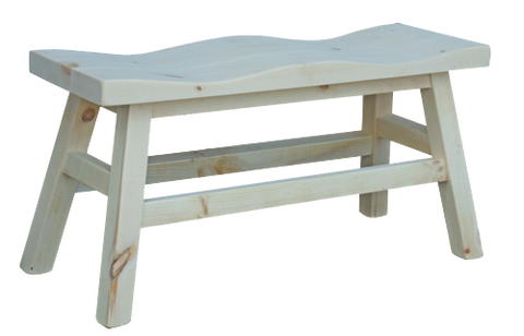 Dakota Rough Sawn Multi-Seat Saddle Bench