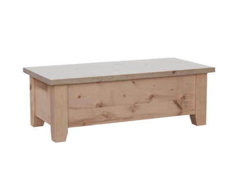 Dakota Rough Cut Sawn Blanket Box