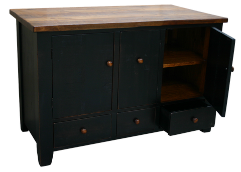 Dakota Rough Cut Island Sideboard