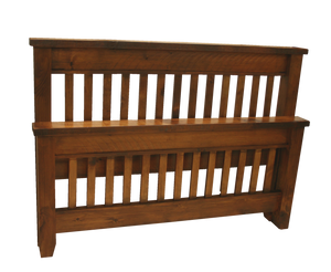 Dakota Rough Cut Sawn Slat Bed