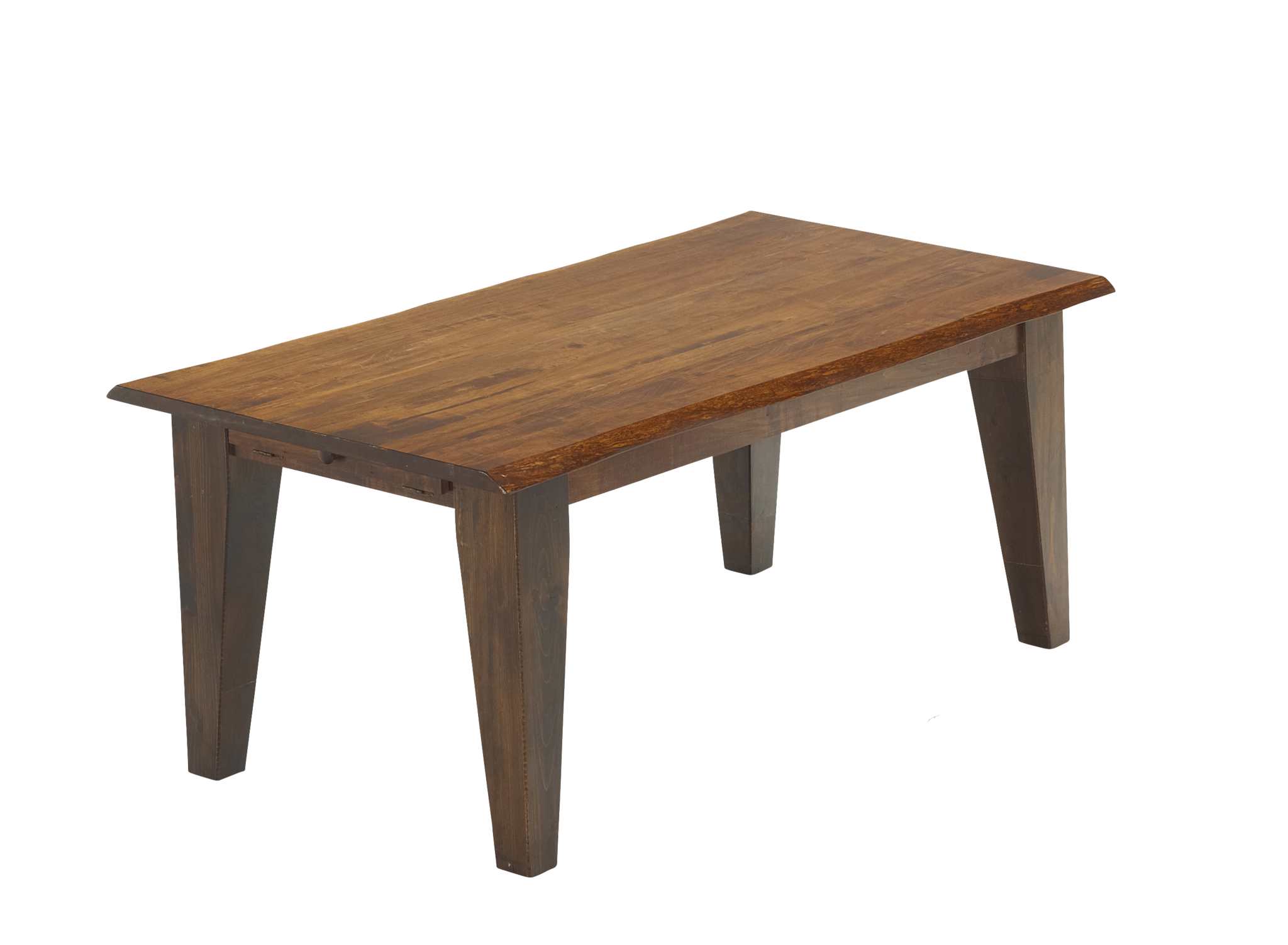 Live Edge Rough Sawn Harvest Table
