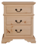 Rideau 3 Drawer Nightstand