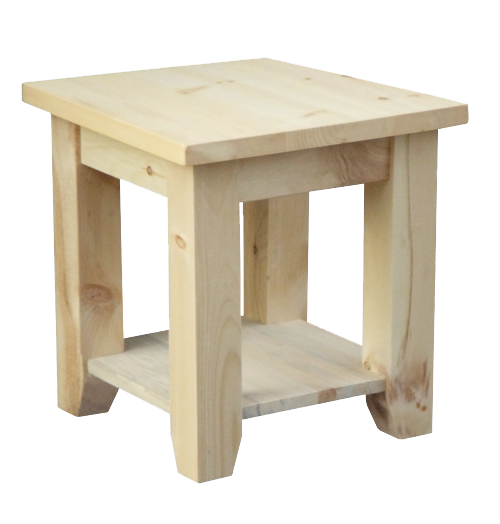 Rough Cut End Table
