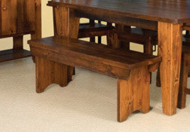 Dakota Rough Sawn Bench With Drawer