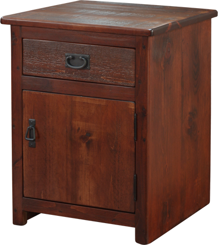 Rustic 1 Drawer 1 Door Nightstand