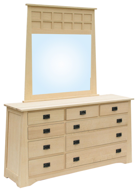 Horizon 9 Drawer Dresser with Landscape Mirror