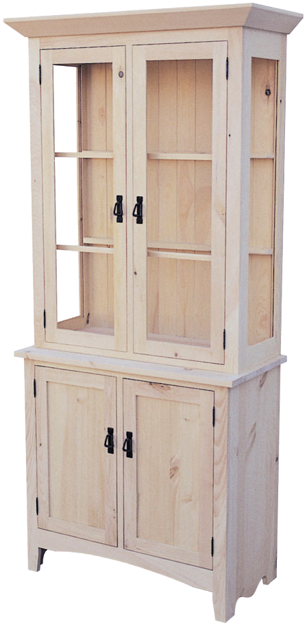 Shaker 4 Door Buffet with Hutch and Crown