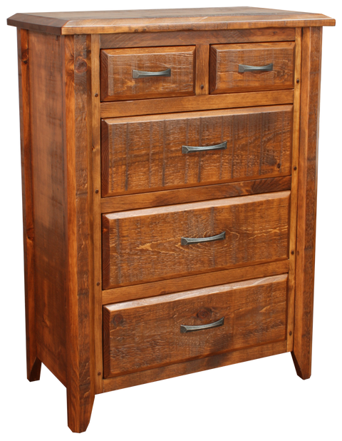 Bevel 5 Drawer Split Chest