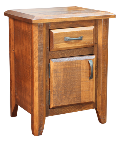 Bevel 1 Drawer 1 Door Nightstand
