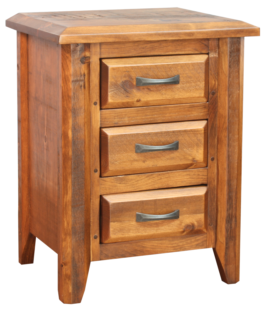 Bevel 3 Drawer Nightstand