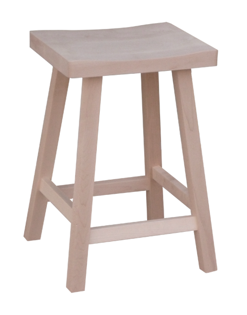Dakota Rough Cut Saddle Stool