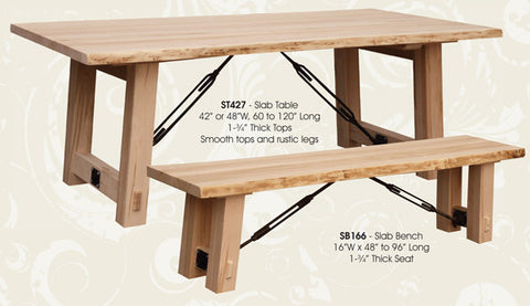 Turnbuckle Slab-Top Bench