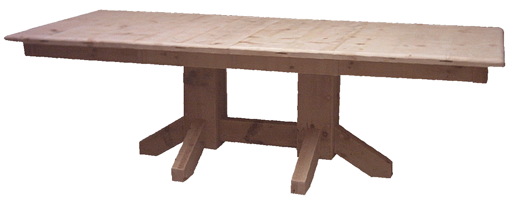 Rustic Double Pedestal Table