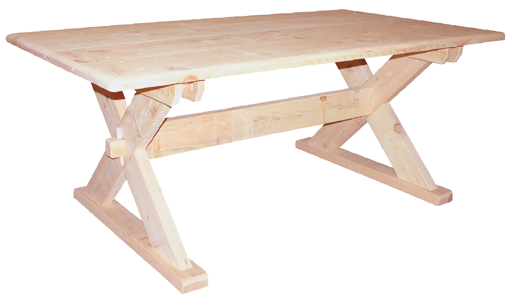 Rustic Saw Buck Table
