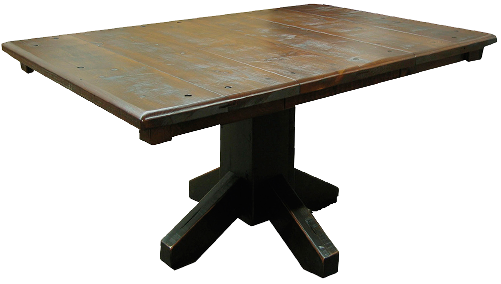 Rustic Single Pedestal Table