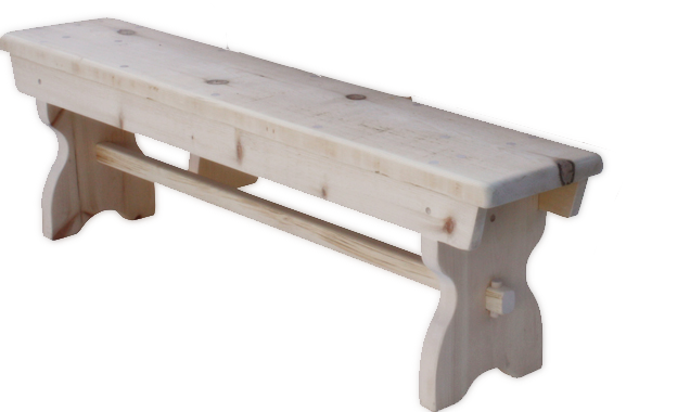 Rustic Trestle Bench