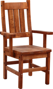 Timber Slat Back Arm Chair