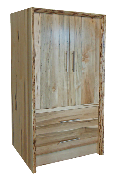 Live Edge Waterfall 2 Drawer Wardrobe